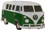 VW Green Campervan Officially Licensed Belt Buckle with display stand and presentation box. Code VWVAN06